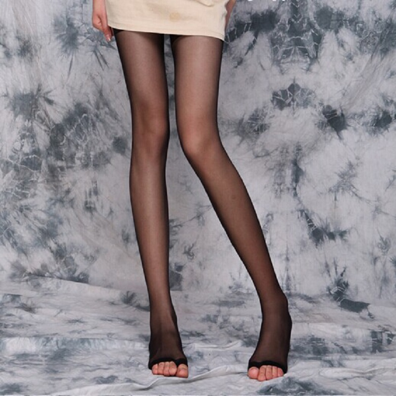 Sexy slim legs tights cored wire firming shaping ultra-thin nylon open-toed fish head transparent girl tights 2019 new
