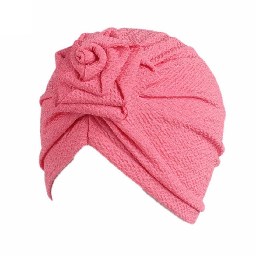 2018 Hot Sale  Kids Baby Girls  Headband Baby Hair Accessories Children Baby Girls Boho Hat Beanie Scarf Turban Head Wrap Cap 9