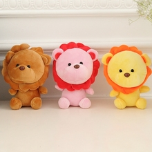 3 PCS A Lot 18 cm Colorful Soft Lion Plush Toys Wall Stuff With Suctions Stuffed Animal Cartoon For Children