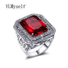 Прекрасный большой прямоугольник большие кольца с красный/montana