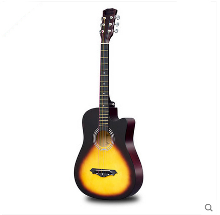 ФОТО 38-inch folk guitar male and female students novice entry practice piano beginner musical instruments log guitar free shipping