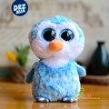 6 ''ty beanie боос плюшевые большие глаза серии милый маленький синий пингвины кукла милые плюшевые игрушки 20 см фаршированные игрушки