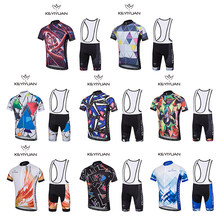 2018 nuovo autunno e inverno cycling jersey set jersey quick dry respirabile wicking 3D cuscino mountain bike outdoor set(China)
