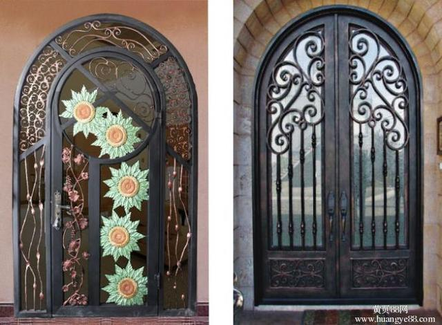 Custom Design Forged Wrought Iron Front Doors Iron Doors Iron Entry Doors  H Wid5