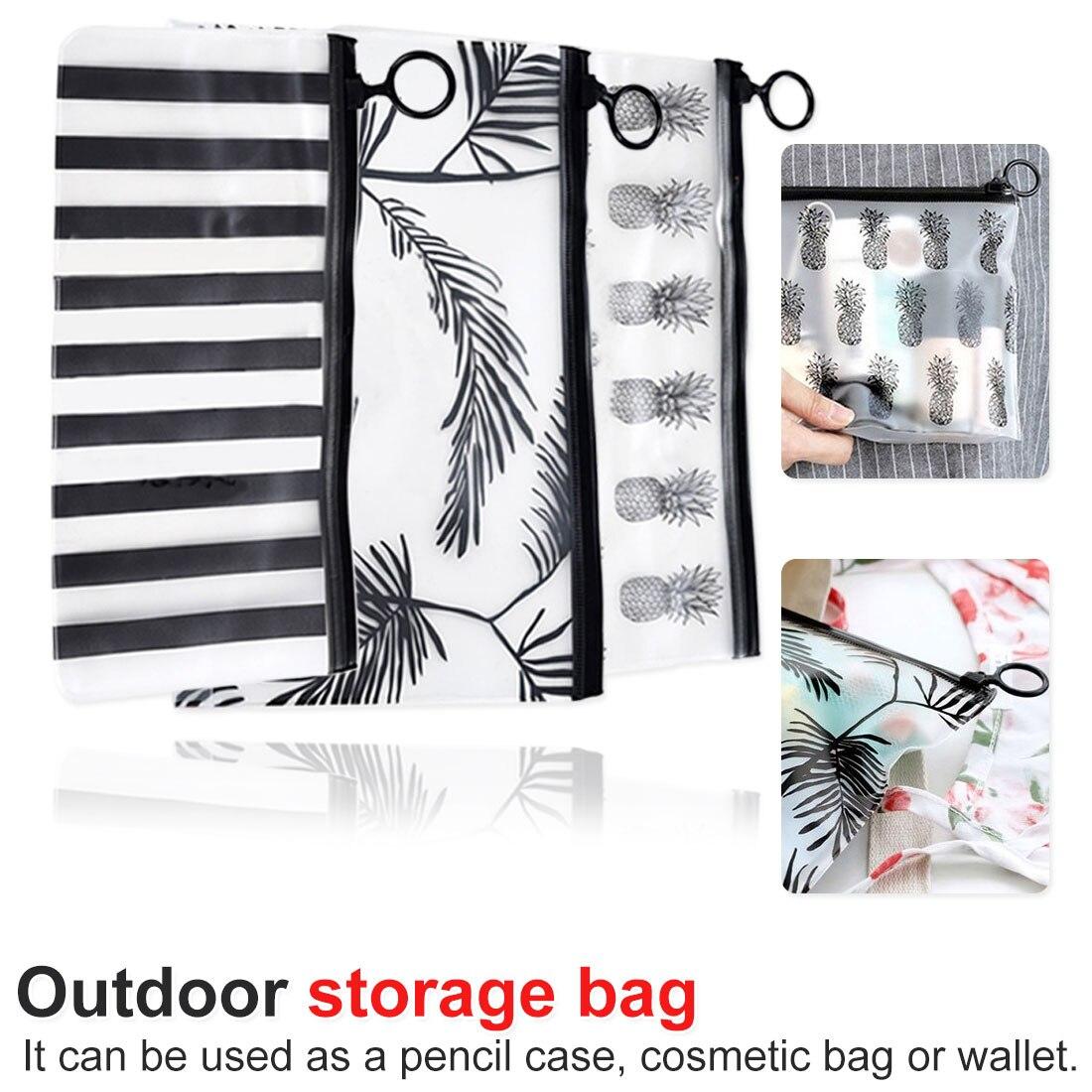 Fashion Travel Women Clear Transparent Cosmetic Bag Small Large PVC Necessary Makeup Bag Case Bath Wash Organizer Set Pouch