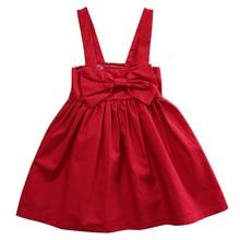 Toddler Kid Baby Girls Dress Sleeveless Sundress Bowknot Short Mini Bow Dress Summer Girls Clothes Outfit