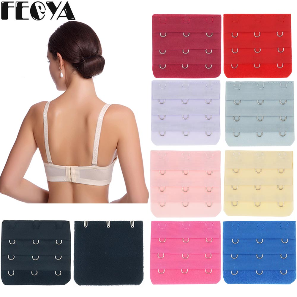9pcs/5pcs DIY Bra Buckle Hooks 3 Buckle/ 3 Rows For Women Bra Extender Extension Increase Intimates Size Strap Adjustable