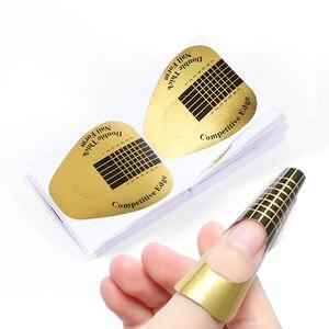 Image 3 - Профессиональная форма для дизайна ногтей STZ, 50 шт./компл., форма для французского маникюра, УФ гель для полировки, направляющая для наращивания, инструмент для маникюра, аксессуары NJ071