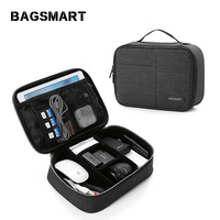 BAGSMART Nylon Electronic Accessories Travel Bag Waterproof Organizer for Cables USB Flash Drive Plug Digital Accessory Bag