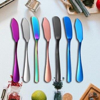 Cuchillo para jamón de Color de acero inoxidable, esparcidor de mermelada, herramienta de desayuno, mantequilla, cuchilla para queso, postre, crema, cubiertos occidentales