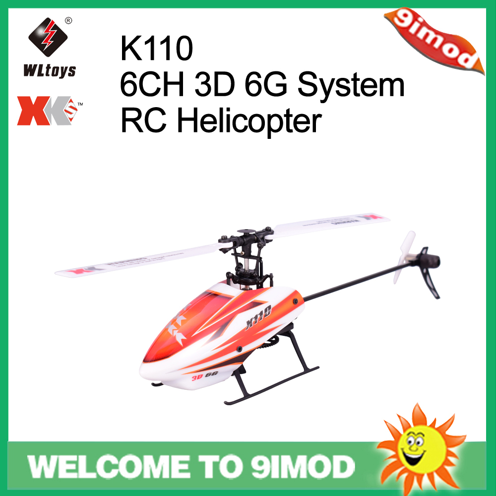 Wltoys XK K110 6CH 3D 6G System Brushless Motor RC Helicopter With Transmitter Compatible With FUTABA S-FHSS Kids Toy