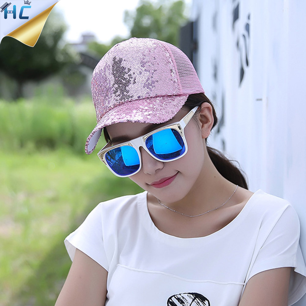 New Brand Baseball Cap Women Girls Snapback Caps Adjustable Trucker Baseball Caps casquette gorras hombre Summer light Mesh Cap