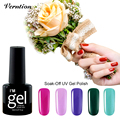 Verntion 2017 Hot Sale Gel Lacquer DIY Nail 8ml LED UV Nail Long Lasting Art Colorful Nail Gel Set need UV LED Lamp Curing