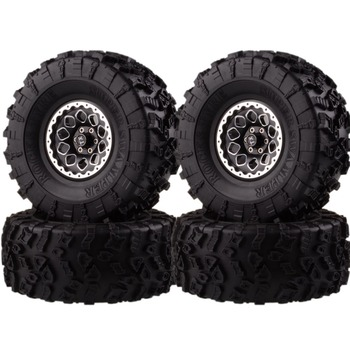 "For RC 1/10 Climbing Rock Crawler 2021-3022 Aluminum 2.2"" Beadlock Wheels Rims & Super Swamper Rocks Tyre 132mm 4pcs"