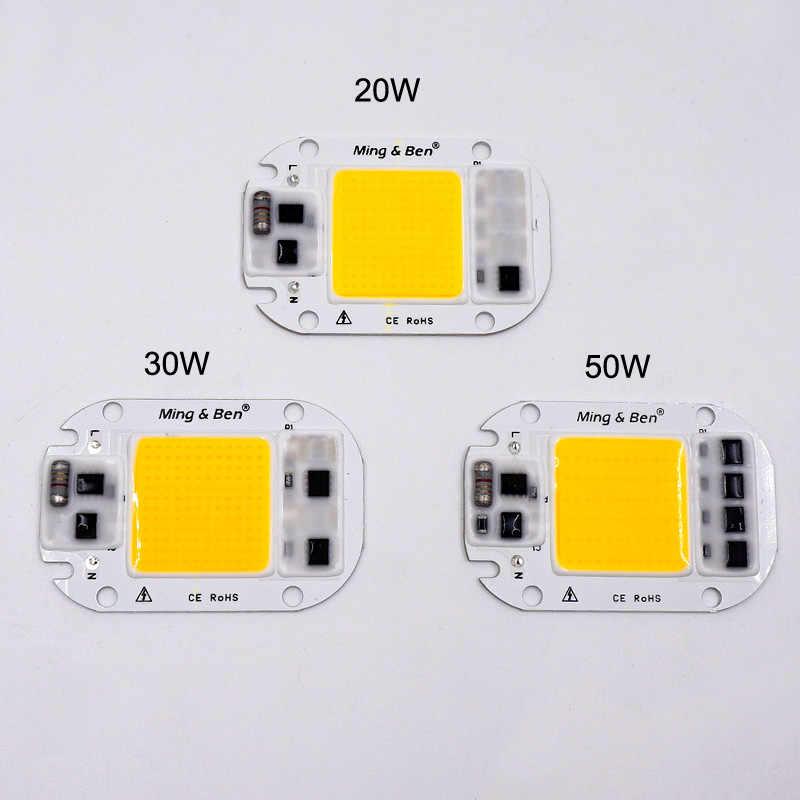 5pcs LED COB Beads Smart IC No Need Driver 50W 30W 20W AC 220V 110V Input High Lumen LED Chip For DIY LED Floodlight Spotlight