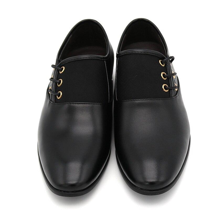 Men Nero Lace Big Shoes Wedding Flat Punta New Nero Fashion Dress British tonda marrone up Size38 48 giallo Business qwnr6CwI8