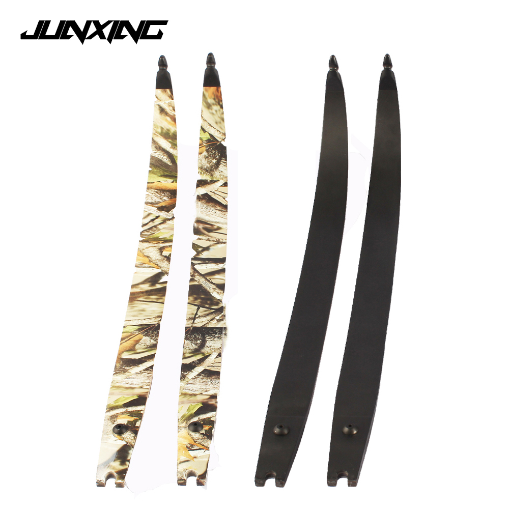 1 Pair 30 60Lbs Recurve Bow Limbs Black Camo F166 DIY Bow for Outdoor Archery Shooting