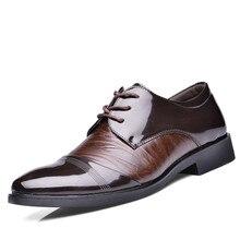 2016 Nouvelle Marque Oxford Chaussures Pour Hommes Robe Chaussures de Bureau En Cuir hommes Appartements Chaussures Hauteur Croissante Zapatos Hombre