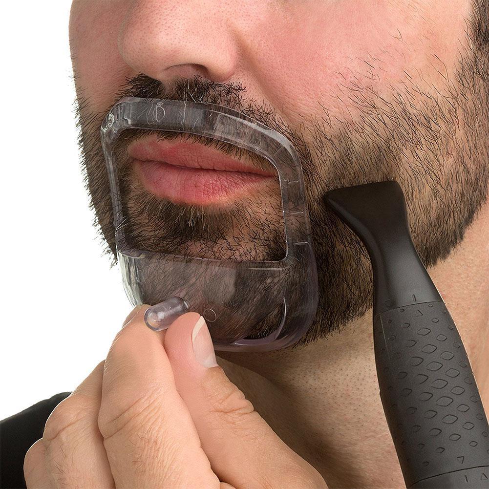 Consigue el corte de la barba líneas perfectamente simétricas en cuestión de minutos con una molde guía plantilla para barba!