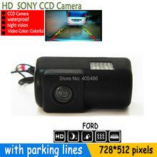 170 парковочная камера заднего вида HD SONY CCD камера резервного копирования обратного автомобиля с парковка линии для форд транзит соединение 2012 — 2014