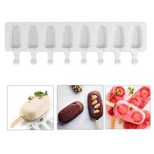 Силиконовые формы DIY 8 полости формы мороженого эскимо домашний фруктовый сок десерт льда поп лоток для мороженого на палочке формы кубики льда инструменты