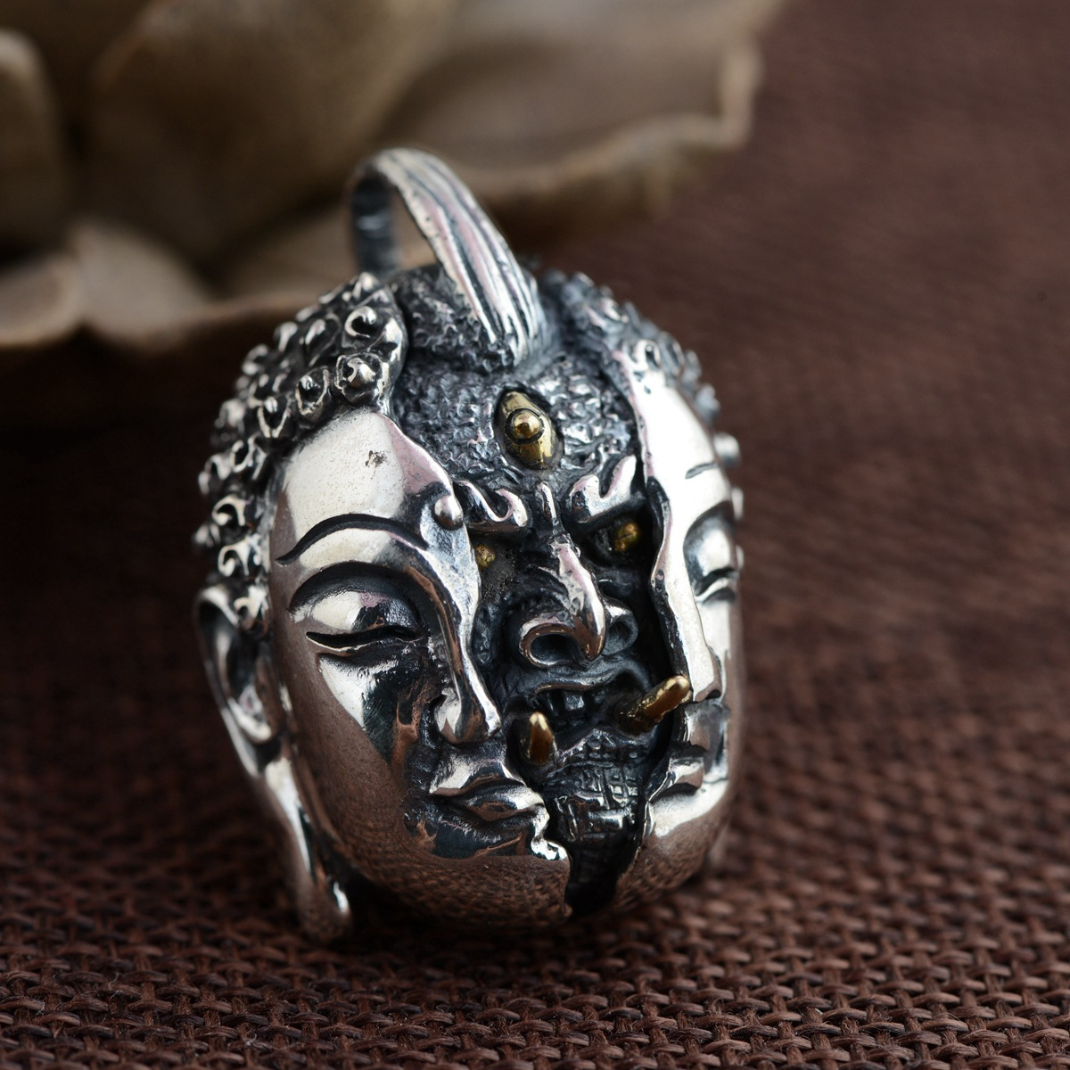 Between the deer King jewelry wholesale S925 Sterling Silver Pendant Silver Antique Crafts a new personality xiangyuan wholesale sterling silver s925 silver pendant antique crafts buddhist ritual vajra evil pendant