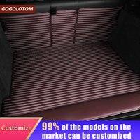 Custom FULL Trunk mat Artificial Leather for BMW VW TOYATA Honda Porsche FORD FIAT LEXUS Mazda KIA Polo VOLVO SKODA Cargo Line