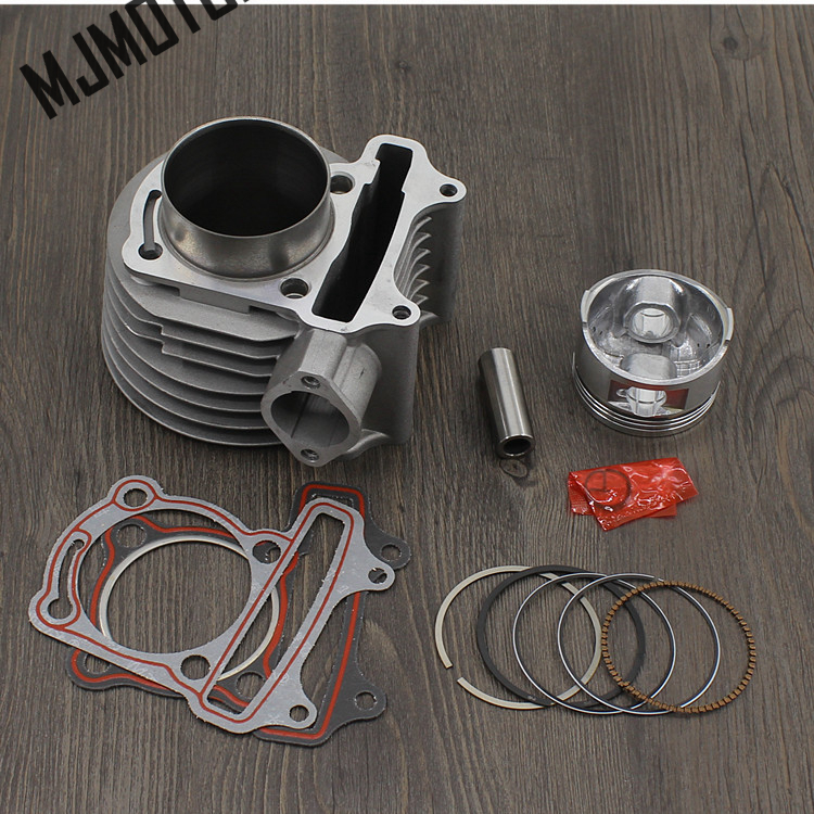 full set Cylinder Kit For 157QMJ GY6 200cc Engine with Piston Rings For Chinese Scooter R9 Honda Motorcycle suzuki atv part xinchang engine 498bt the set of pistons piston rings and piston pins for one engine