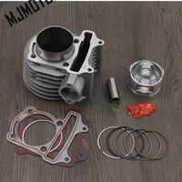 full set Cylinder Kit For 157QMJ GY6 200cc Engine with Piston Rings For Chinese Scooter R9 Honda Motorcycle suzuki atv part