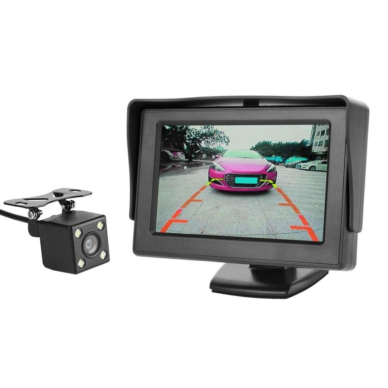 VODOOL Автомобильная камера заднего вида, система парковки заднего вида, комплект 5 дюймов, TFT lcd монитор заднего вида, водонепроницаемая камера ночного видения - Название цвета: 4.3 inch