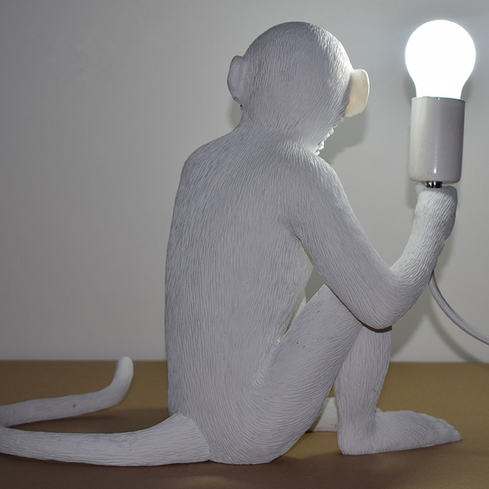 Online shop new monkey sitting desk lamp white resin modern table online shop new monkey sitting desk lamp white resin modern table lamp including led table for bedroom study room home decor hotel aliexpress mobile geotapseo Gallery