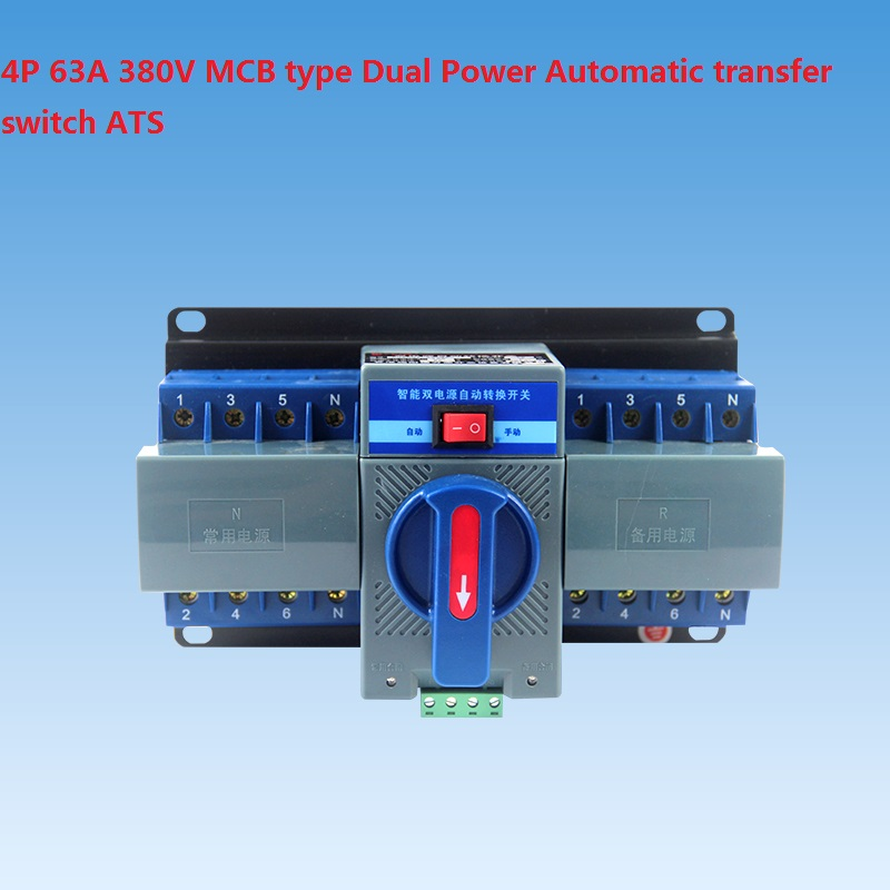 4P 63A 380V MCB type Dual Power Automatic transfer switch ATS sweet women s pumps with two piece and patent leather design