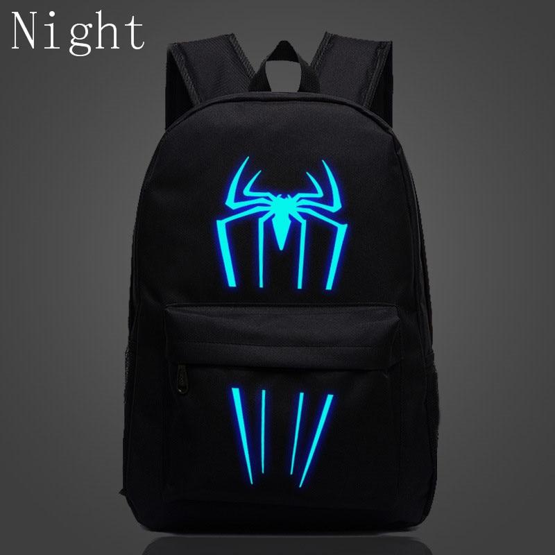 2017 New Fashion Spiderman Backpacks For Boys Girls School Bags For Kids Super Hero Luminous Backpacks Teenage Bags Mochila недорго, оригинальная цена