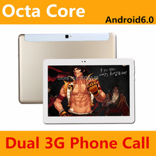 free shipping 10 inch Tablet PC Octa Core 4GB RAM 32GB/64GB ROM Dual SIM Cards Android 6.0 GPS Tablet PC 10 10.1 +Gifts