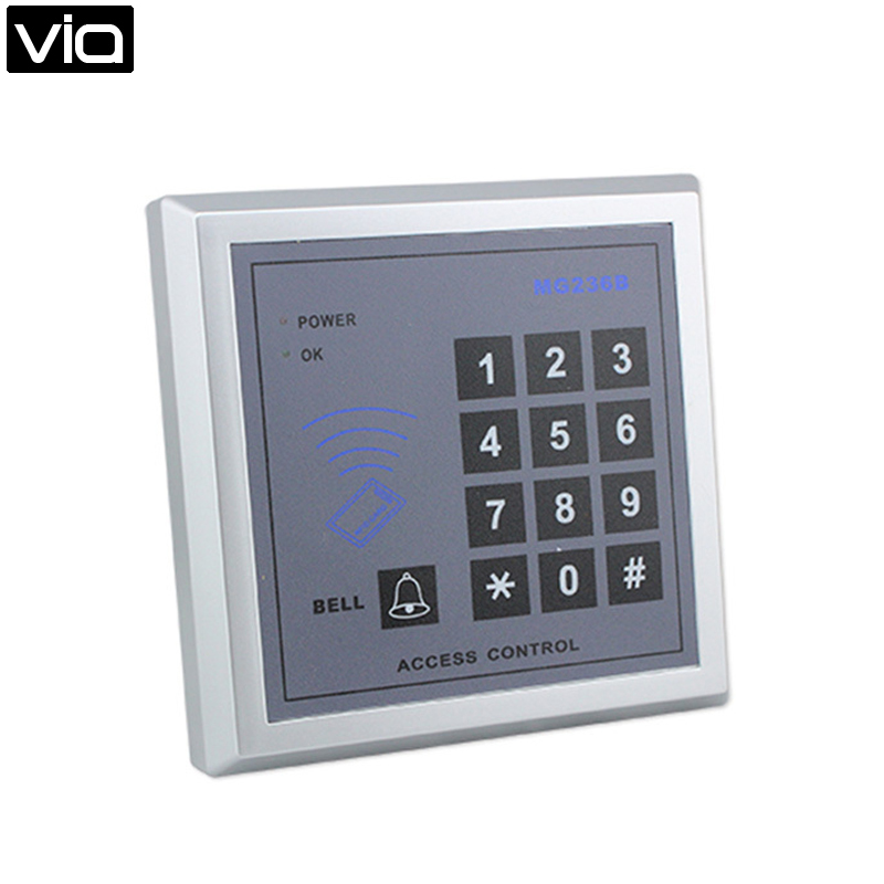 RFID card reader Door access control with square keypad RFID card reader Door access control hot sale for smart home control metal rfid em card reader ip68 waterproof metal standalone door lock access control system with keypad 2000 card users capacity