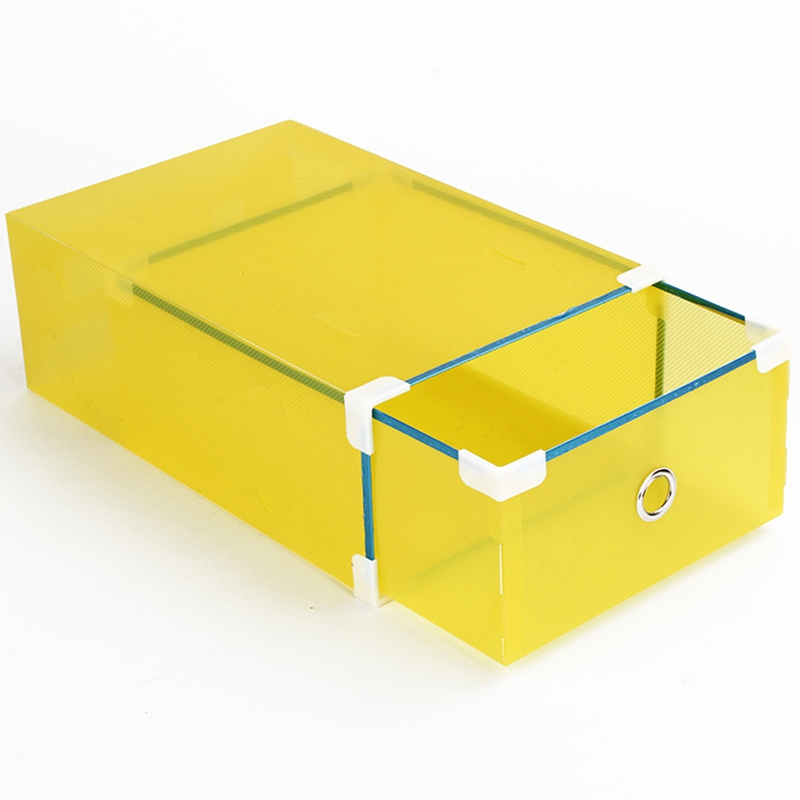 Transparent Thickened Drawer Shoe Boxes Organizer Plastic Stackable Storage Case Holder For Household Storage Accessories