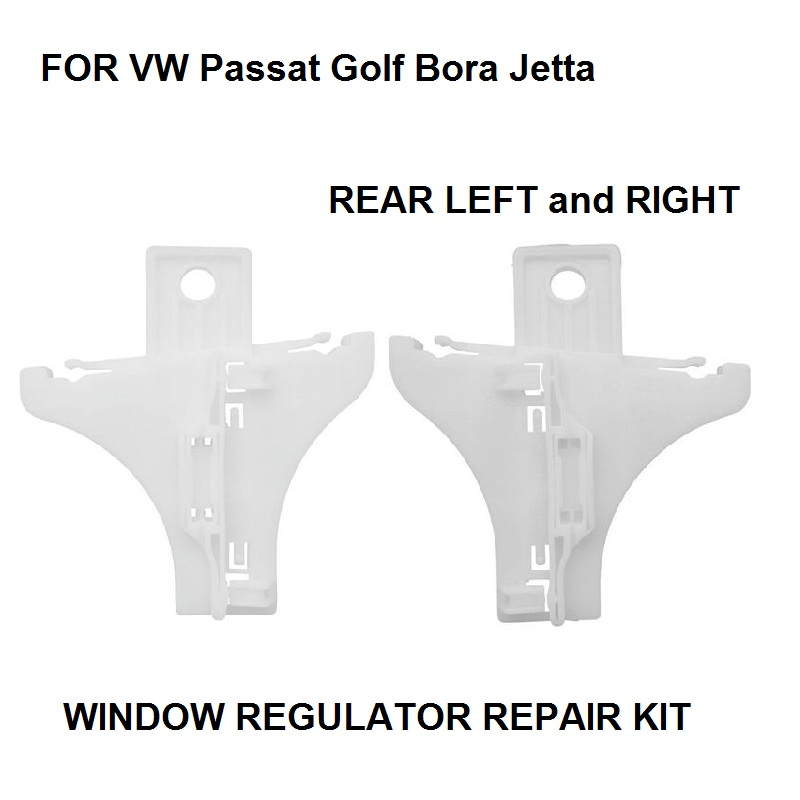 CAR STYLING X2 Pieces For VW Passat Golf Bora Jetta WINDOW REGULATOR REPAIR KIT CLIP REAR LEFT-RIGHT NEW
