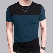 Neck T-shirt Men Short Sleeve PU27