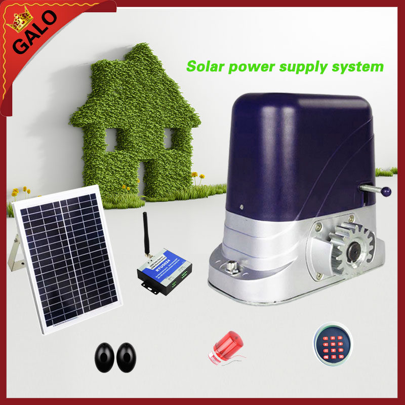 GALO Solar energy operation for 500kg loading Automatic sliding gate opener operator motor Accessories can be selected automatic sliding gate opener for home automation 1000kg