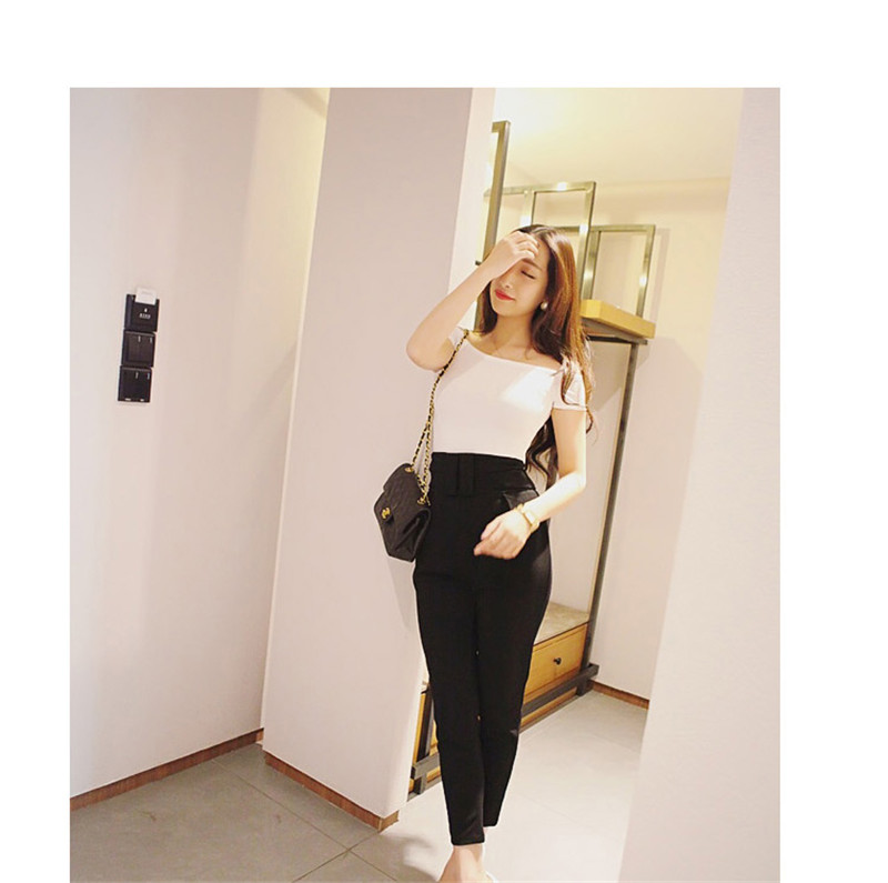 HTB1z310hbZnBKNjSZFKq6AGOVXaS - Summer Korean Style Women's Blouses Solid Color Off The Shoulder Basic Tops Tee Sexy Lady Top Tee Plus Size
