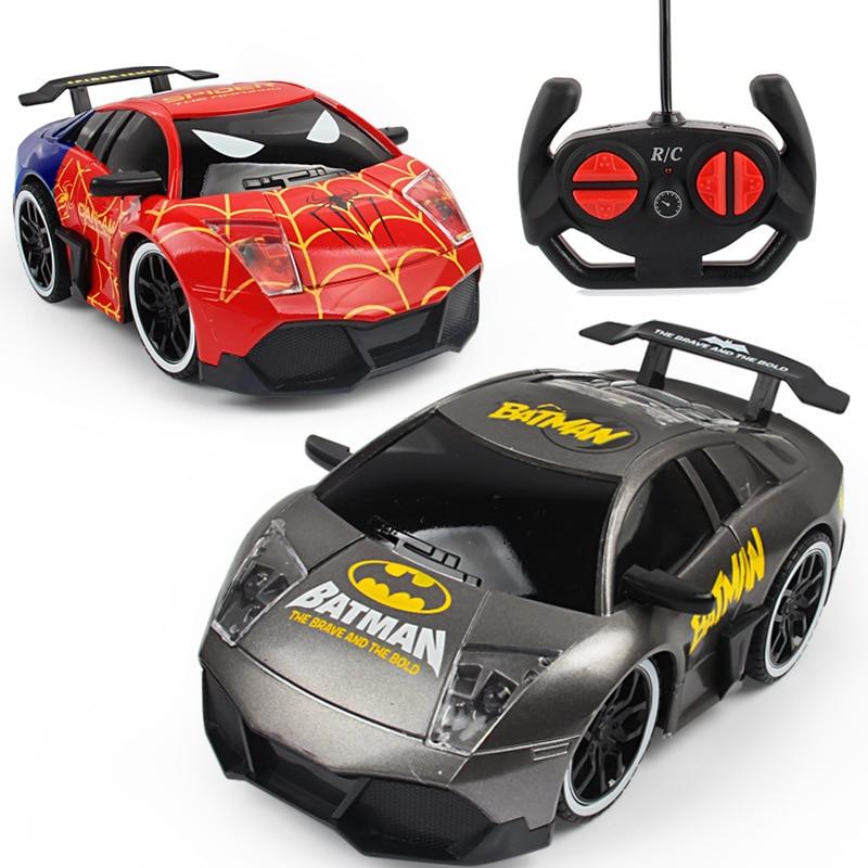 1:20 RC Car Avengers Cartoon Radio Remote Control Toys Cars Batman Hulk Iron Spider Man RC Cars Toy Birthday Gift For Children