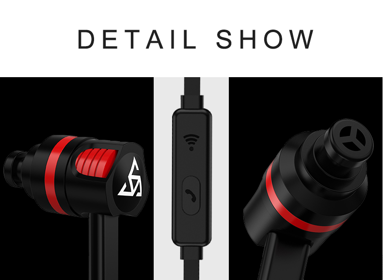 PTM In-ear Earphone Super Bass Stereo Sound Headset Sport Ear phones With Mic for Phones Iphone Samsung Xiaomi Ear Phone 3.5mm