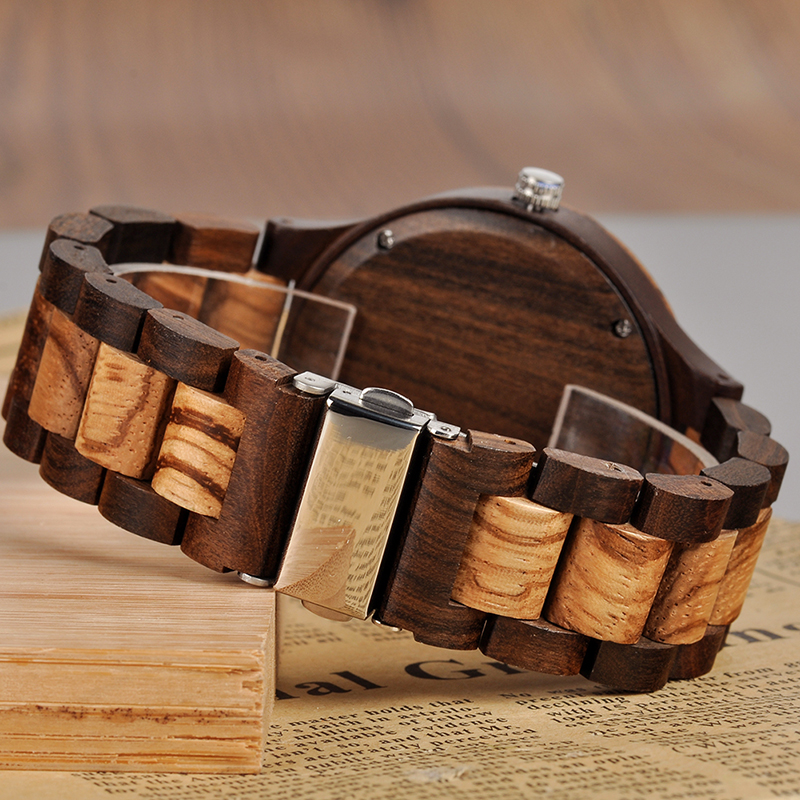 Customizable Bamboo Wrist Watch For Lovers or Family 12