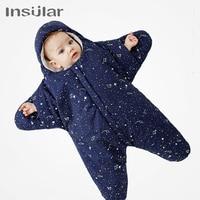 New Baby Sleeping Bag Star Shape Winter Warm Sleeping Bag Newborn Cotton Blanket Swaddle Baby Stroller Sleeping Bag
