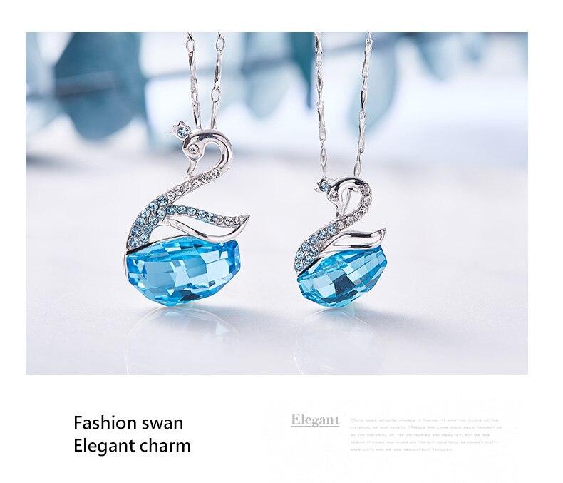 Swarovski Swan Necklace Earrings Set (12)