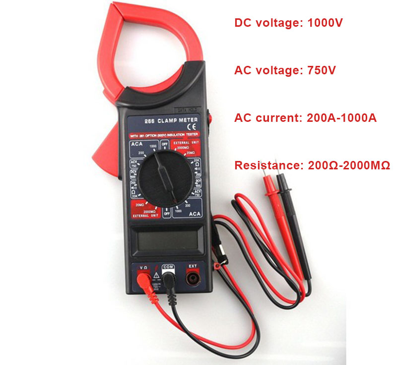 Electronic Voltage Tester : Ac dc lcd digital clamp meter multimeter ammeter