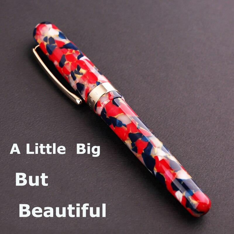 Nouveau Moonman M300 celluloïd surdimensionné stylo à plume allemagne Schmidt Fine Nib 0.5mm Excellent mode bureau écriture cadeau stylo ensemble