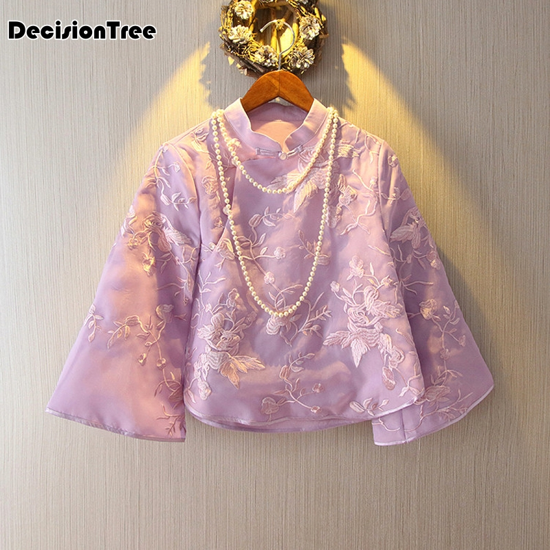 2019 summer tang suit lady ethnic clothing chinese traditional clothes coat women chinese coat Chinese cheongsam top for women