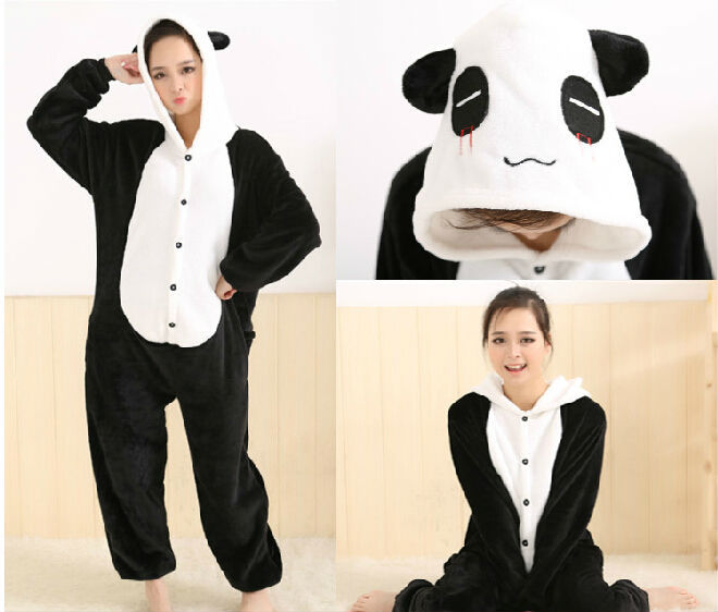 Hot New Adult Animal Sleepsuit Toy JP Anime Pajamas Panda Cosplay Costume  Sleepwear Doll Hoodies Helloween Party Dress-in Dolls Accessories from Toys  ... 4cb48413687d2