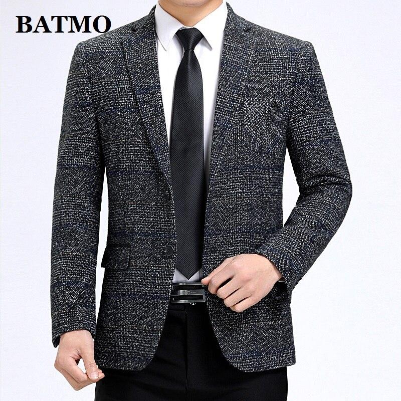 Batmo 2019 New Arrival High Quality Smart Plaid Casual Blazer Men,men's Casual Suits,men's Jackets Plus-size M-3XL 507